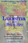 Plakát ke hře Lucerna aneb Boj o lípu