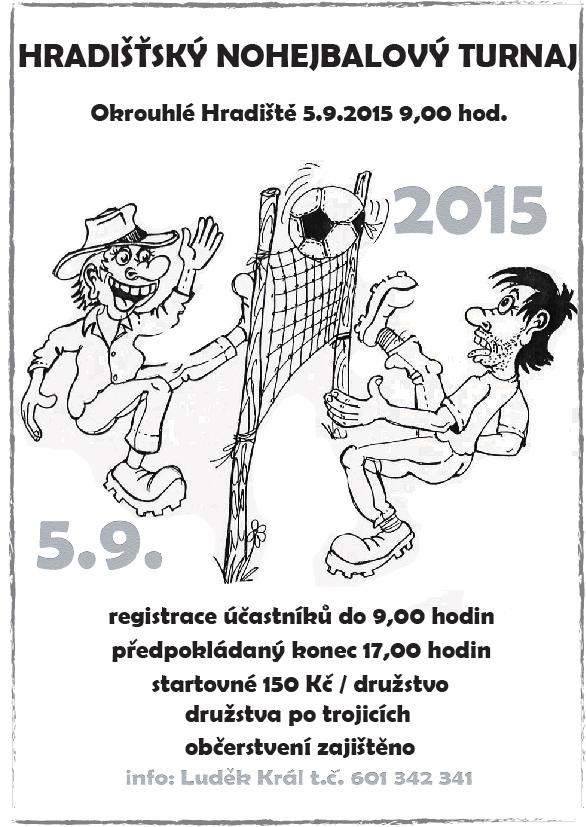 Hradišťský nohejbalový turnaj (5. 9. 2015 od 9:00)